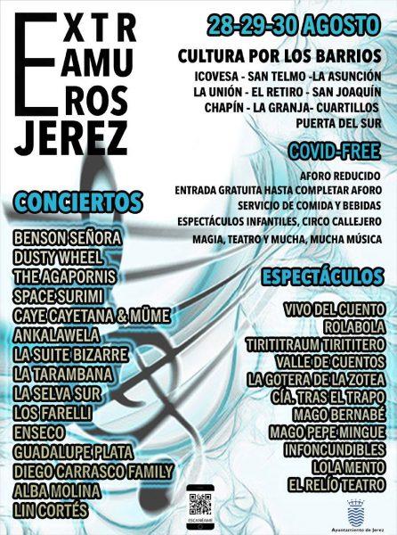 Programación del Festival Extramuros 2020 en Jerez