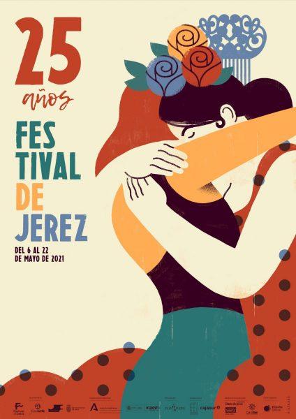 Cartel de la 25 edición del Festival de Jerez, que se celebrará en mayo