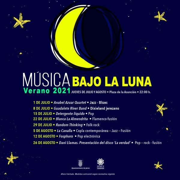 Programación del ciclo Música bajo la Luna 2021
